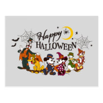 Mickey and Friends | Happy Halloween Postcard
