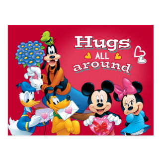 Mickey and Friends Hugs All Around Postcard