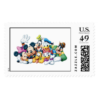 Mickey and Friends Postage Stamps
