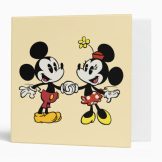 Mickey and Minnie Holding Hands Binders