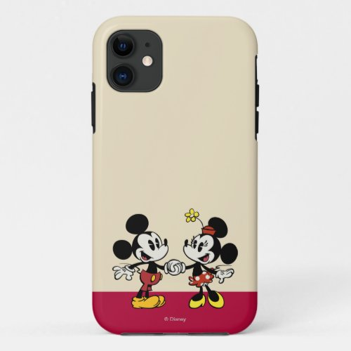 Mickey and Minnie Holding Hands Phone Case
