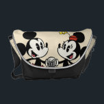 "Mickey and Minnie Holding Hands Courier Bag<br><div class=""desc"">Mickey Shorts -Mickey and Minnie Mouse</div>"