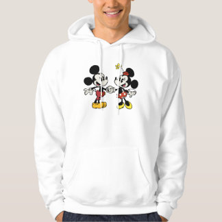 Mickey and Minnie Holding Hands Hoodie