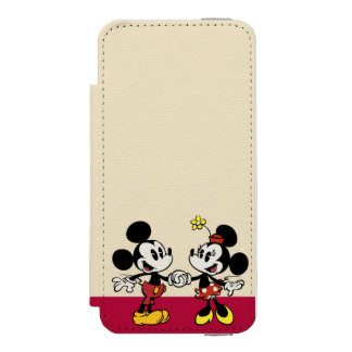 Mickey and Minnie Holding Hands iPhone SE/5/5s Wallet Case