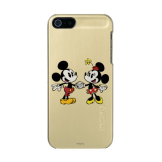 Mickey and Minnie Holding Hands Metallic iPhone SE/5/5s Case