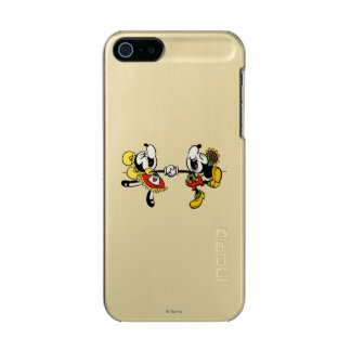 Mickey and Minnie  Holding Hands Metallic Phone Case For iPhone SE/5/5s
