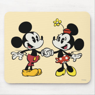 Mickey and Minnie Holding Hands Mouse Pad