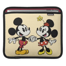 Mickey and Minnie Holding Hands Sleeve For iPads at Zazzle