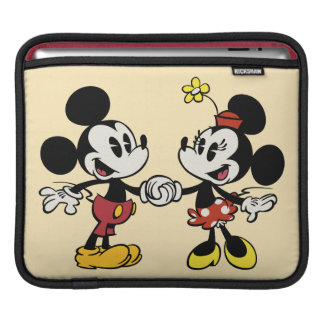 Mickey and Minnie Holding Hands Sleeve For iPads