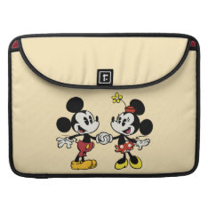 Mickey And Minnie Holding Hands Sleeve For Macbook Pro at Zazzle