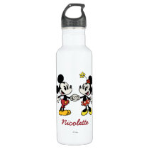 Mickey and Minnie Holding Hands Stainless Steel Water Bottle