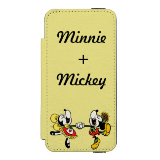 Mickey and Minnie  Holding Hands Incipio Watson™ iPhone 5 Wallet Case