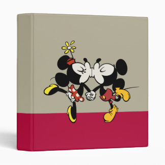 Mickey and Minnie Kissing Binder