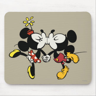 Mickey and Minnie Kissing Mouse Pad