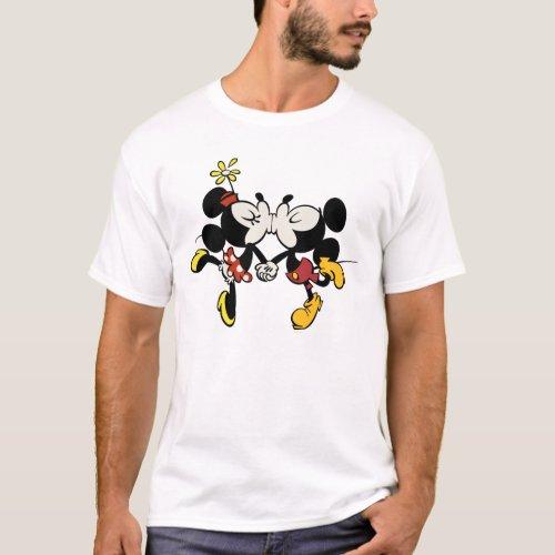 Mickey and Minnie Kissing T_Shirt