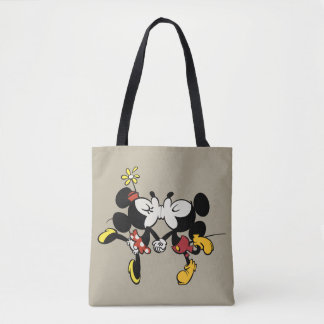 Mickey and Minnie Kissing Tote Bag