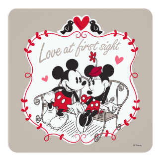 Mickey and Minnie - Love at First Sight Card