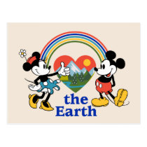 Mickey and Minnie | Love the Earth Postcard