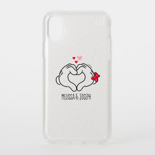 Mickey and Minnie Making Heart Sign with Hands Speck iPhone XS Case