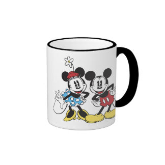 Mickey and Minnie Mouse Ringer Coffee Mug