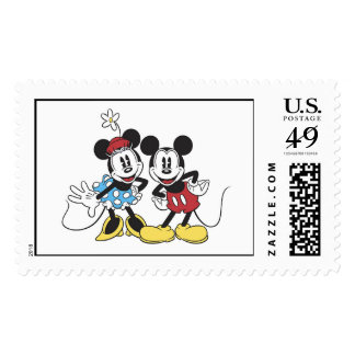 Mickey and Minnie Mouse Stamp