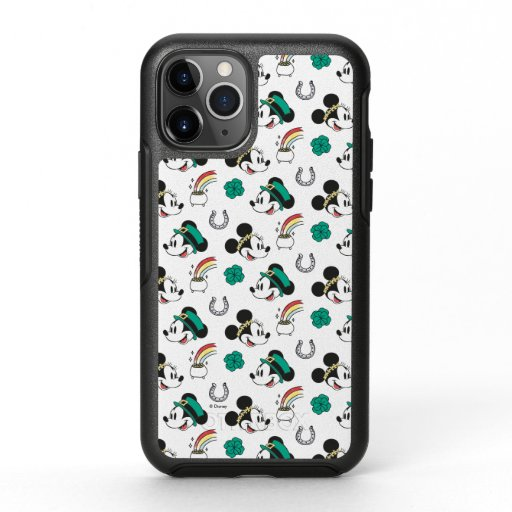 Mickey and Minnie | St. Patrick's Day Pattern OtterBox Symmetry iPhone 11 Pro Case