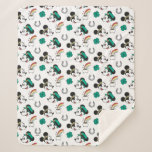 Mickey and Minnie   St. Patrick's Day Pattern Sherpa Blanket