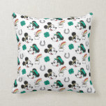 Mickey and Minnie   St. Patrick's Day Pattern Throw Pillow