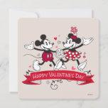 Mickey and Minnie Valentine Holiday Card