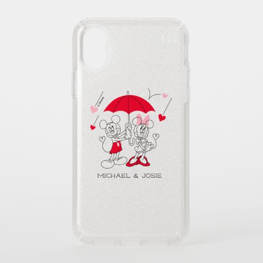 Mickey and Minnie | Valentine's Day Falling Hearts Speck iPhone XS Case