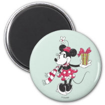 Mickey and Minnie | Vintage Christmas Pattern Magnet