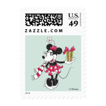 Mickey and Minnie | Vintage Christmas Pattern Postage