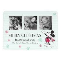 Mickey and Minnie | Vintage Christmas with Photos Card
