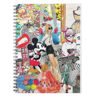 Mickey and missy spiral notebook
