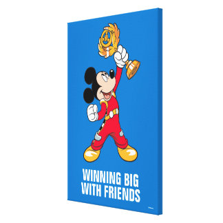 Mickey and the Roadster Racers | Mickey & Trophy Canvas Print