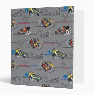 Mickey and the Roadster Racers Pattern 3 Ring Binder