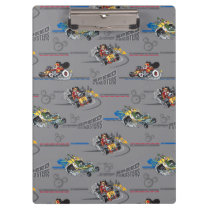 Mickey and the Roadster Racers Pattern Clipboard