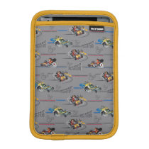 Mickey and the Roadster Racers Pattern iPad Mini Sleeve