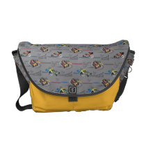 Mickey and the Roadster Racers Pattern Messenger Bag