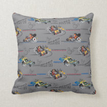 Mickey and the Roadster Racers Pattern Throw Pillow
