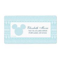 Mickey | Blue Aztec Baby Shower Label
