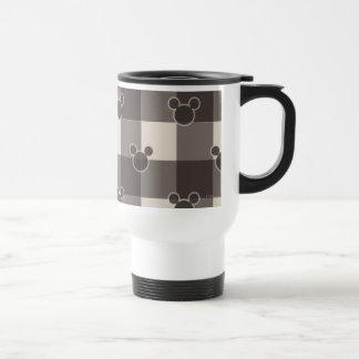 Mickey Brown Plaid Pattern 15 Oz Stainless Steel Travel Mug