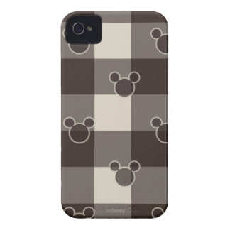 Mickey Brown Plaid Pattern iPhone 4 Cases