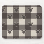 Mickey Brown Plaid Pattern Mouse Pad
