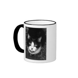 mickey bw, Happy Birthday Mommy!               ... Ringer Coffee Mug