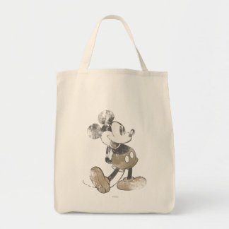 Mickey clásico el | apenado bolsa tela para la compra