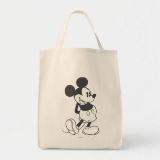 Mickey clásico el | blanco y negro bolsa tela para la compra