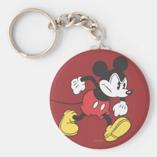 Mickey clásico el | enojado llavero redondo tipo pin