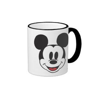 Mickey clásico hace frente taza a dos colores