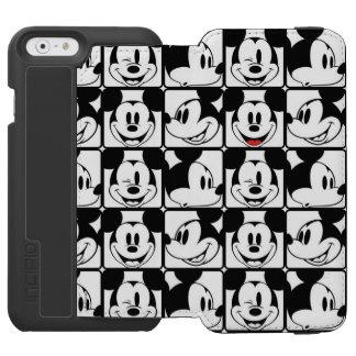 Mickey clásico hace frente funda cartera para iPhone 6 watson